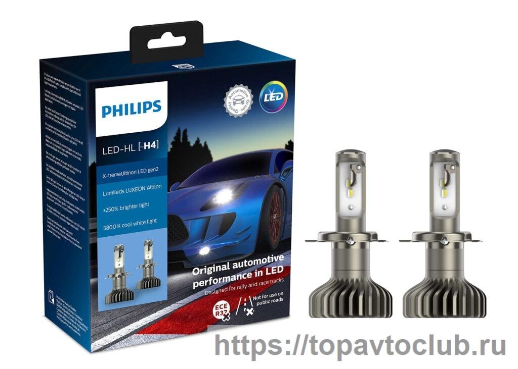 "Светодиодная лампа ""Philips H4 Philips X-Treme Ultinon"""